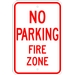 NO PARKING FIRE ZONE